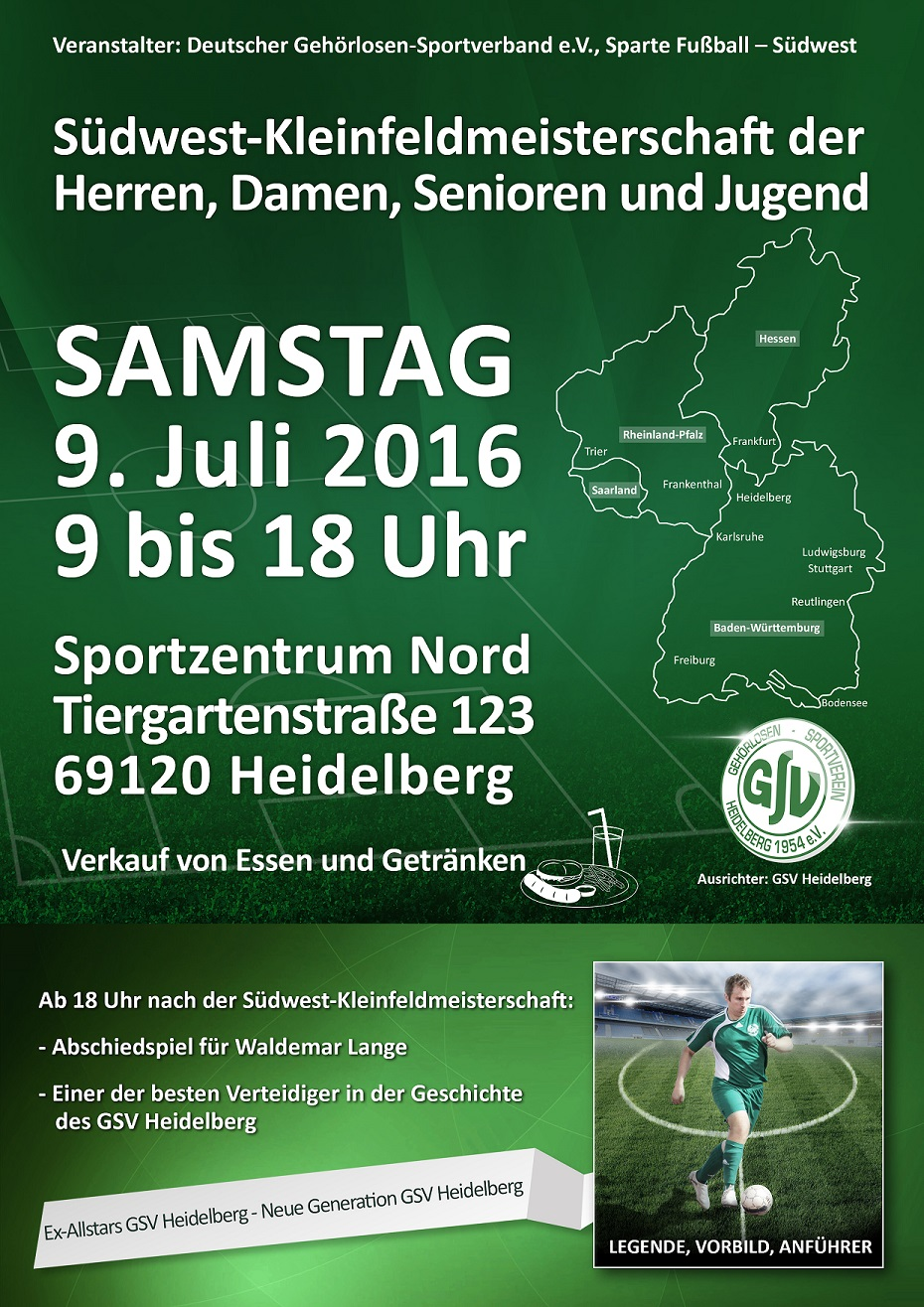 Plakat-Südwest Kleinfeldmeisterschaft 09.07.2016 in Heidelberg
